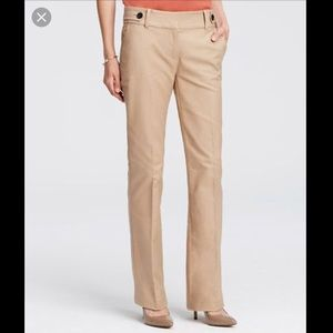 NWT Ann Taylor 8 Devin Flare Khaki Dress Pants